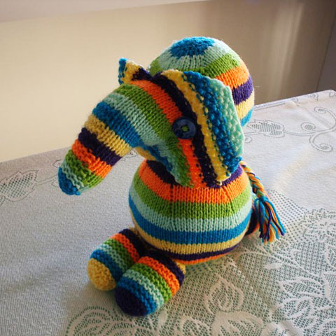 Elephant Knitted Toy