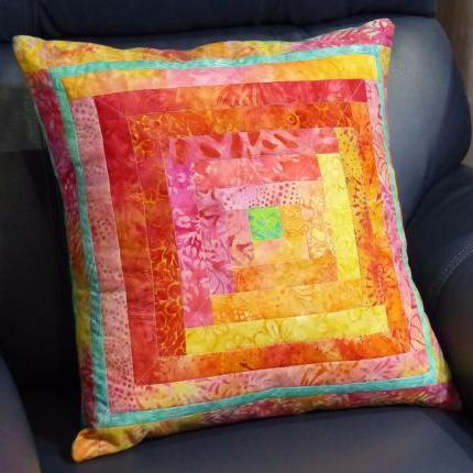 *Batik Sunrise* - Quilted Cushion