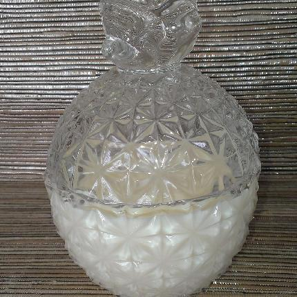 Cut Glass Pineapple Soy Candle & Lid