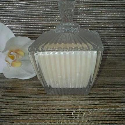 Square Cut Glass Soy Candle