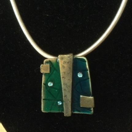Green & Old Gold Pendant