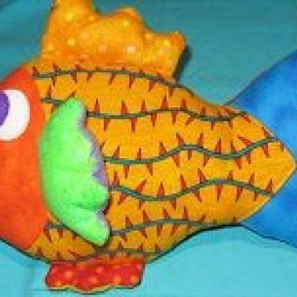 COLOURFUL FISH - lge