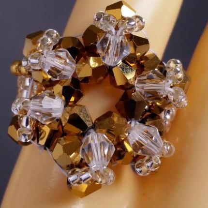 Supernova Bicone Ring - Gold