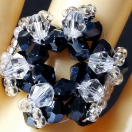 Supernova Bicone Ring - Midnight Blue