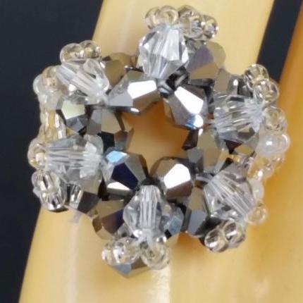 Supernova Bicone Ring - Silver