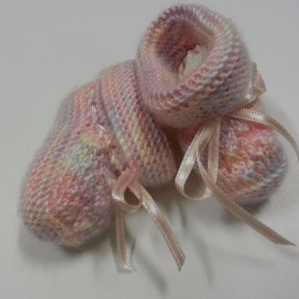Pink/Lilac booties 2.5""