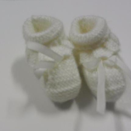 White Booties with cuff 3""