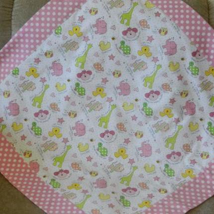 BABY PINK RECEIVING BLANKET 88cms sq