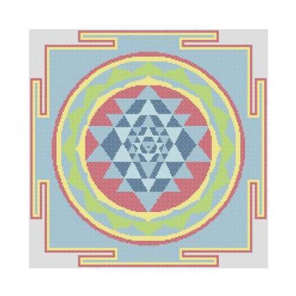 Sri Yantra Pattern ~ Cross Stitching, Knitting, Crocheting, Rug Making SE40013