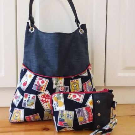 The Post Office Tote- Asian Fabric